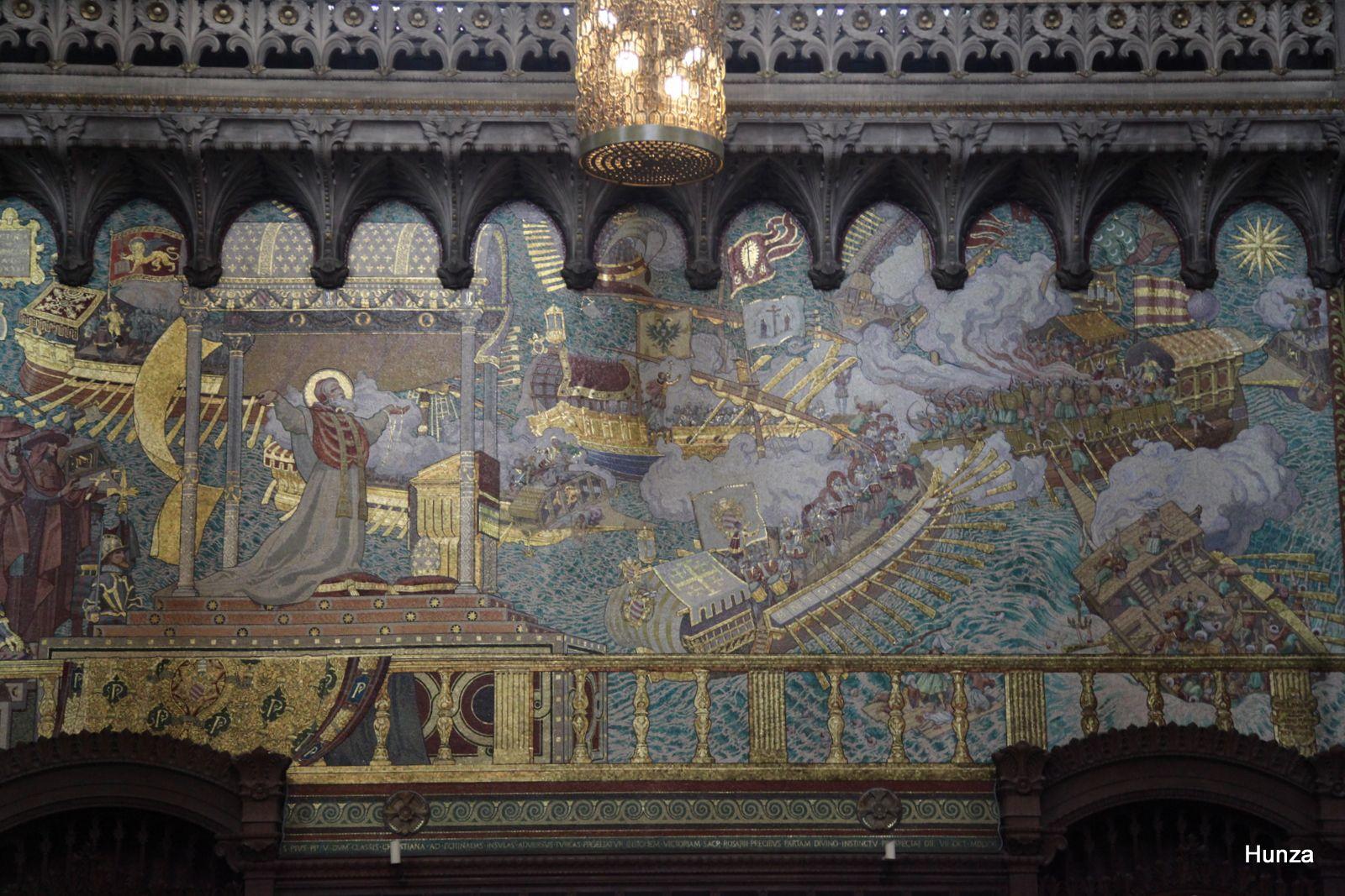 Notre Dame de Fourvière, mosaïque bataille de Lépante