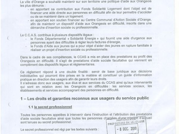 CCAS aides facultatives, la misére.