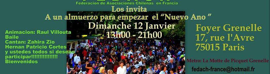 Fête chilienne pour bien commencer l'année (FEDACH - Foyer Grenelle le 12 janvier)