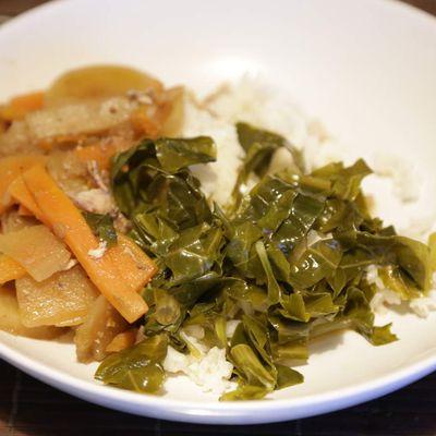 Riz long blanc de Camargue aux petits légumes de saison à la japonaise