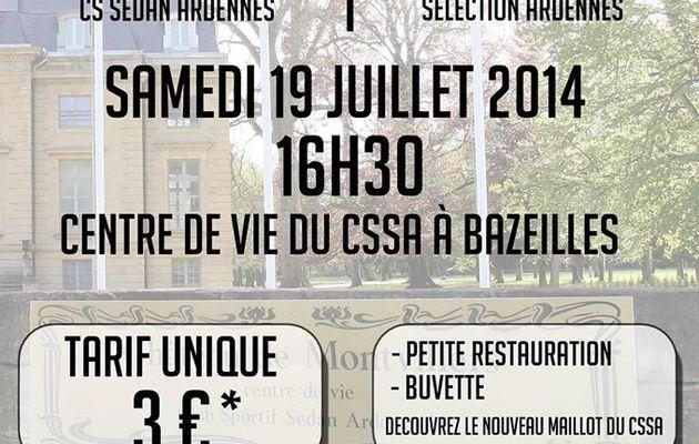 Association Roseau : 19 Juillet 2014, 1er Match de préparation du CSSA : Les Bénéfices pour Roseau