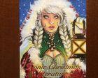 Santa Claus daughter Sketch card