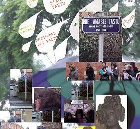 Printemps des Poètes - Metz - rue Amable Tastu, action poétique, en hommage à la poète née à metz.