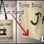 Coudre un Tote Bag avec un Fond - Tuto Couture DIY - Viny DIY, le blog de tutoriels couture et DIY.