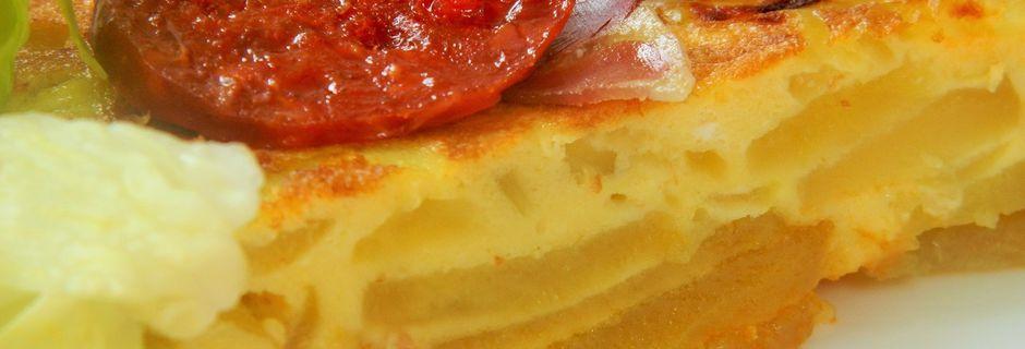 Tortilla De Ibericos (Omelette de charcuterie Ibériques)-Espagne