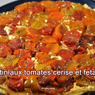 Tatin aux tomates cerise et feta