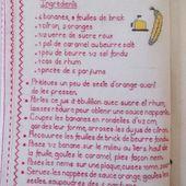 Livre Recettes Brodées de Mamigoz : Nems de Banane au caramel beurre salé - Chez Mamigoz