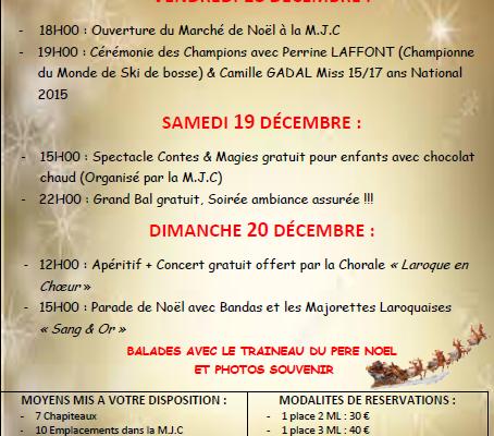 Marché de Noël à Laroque d'Olmes :)