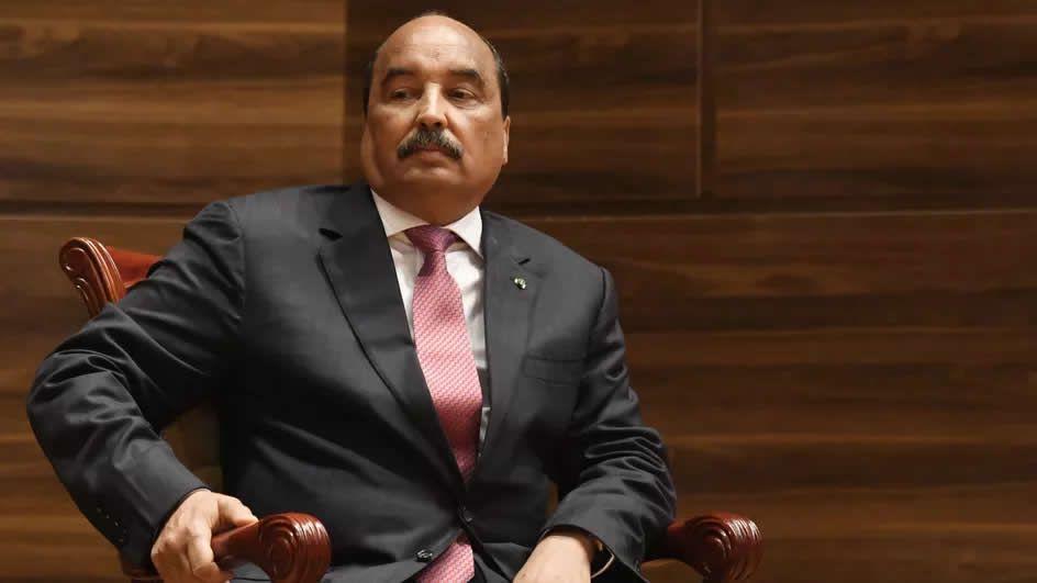 L'ancien président mauritanien, Mohamed Ould Abdel Aziz, lors de l'investiture de son dauphin, le 1er août 2019 à Nouakchott. Il a été marginalisé par le nouveau pouvoir. (SEYLLOU / AFP)