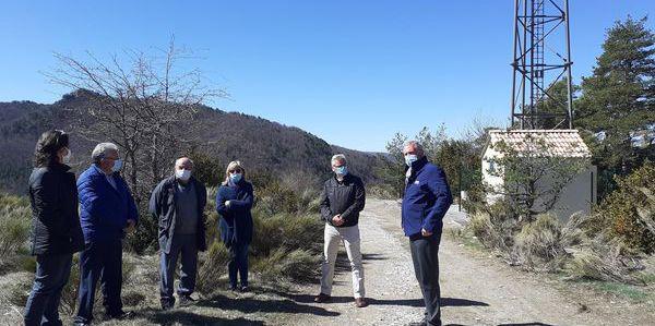 Castellet-les-sausses : inauguration de l'antenne relais 4G