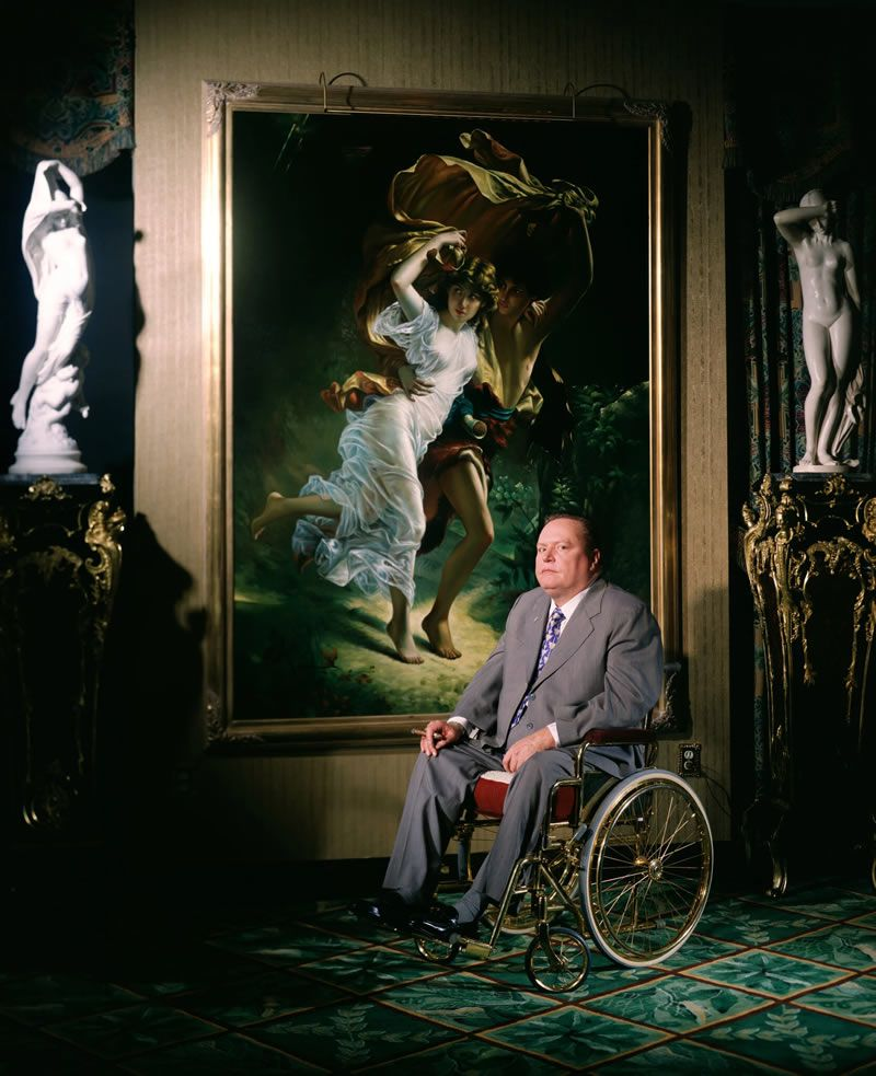 Larry Flynt, the publisher of Hustler magazine, in 1996. He was an unpopular hero to civil libertarians, the Devil incarnate to an unlikely alliance of feminists and morality preachers, and a purveyor of guilty secrets to legions of men.Credit...Evan Hurd/Sygma, via Getty Images