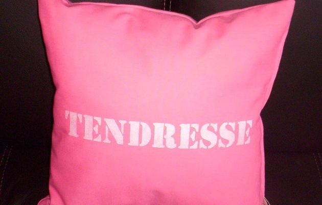 """Coussin """"Tendresse"""""""