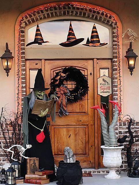 Entrée de maison halloween