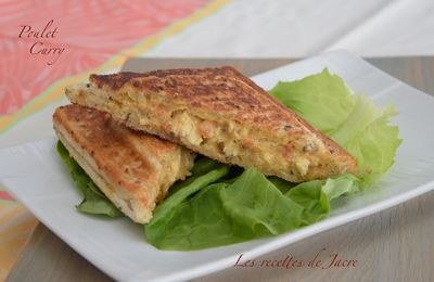 Croque poulet au curry