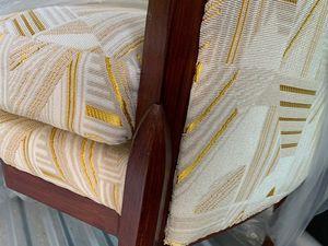 """Copie d'un fauteuil """"fuseau-facettes"""" Ruhlmann"""