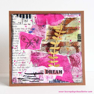 Cartes_Collage et Gel Press
