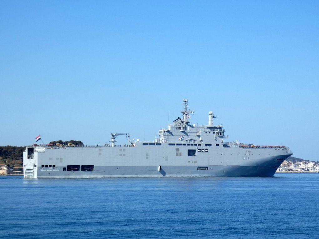 GAMAL ABDEL NASSER  , 1010 ,Porte Hélicoptère Amphibie ( PHA ) de la marine égyptienne arrivant à Toulon le 28 mars 2019
