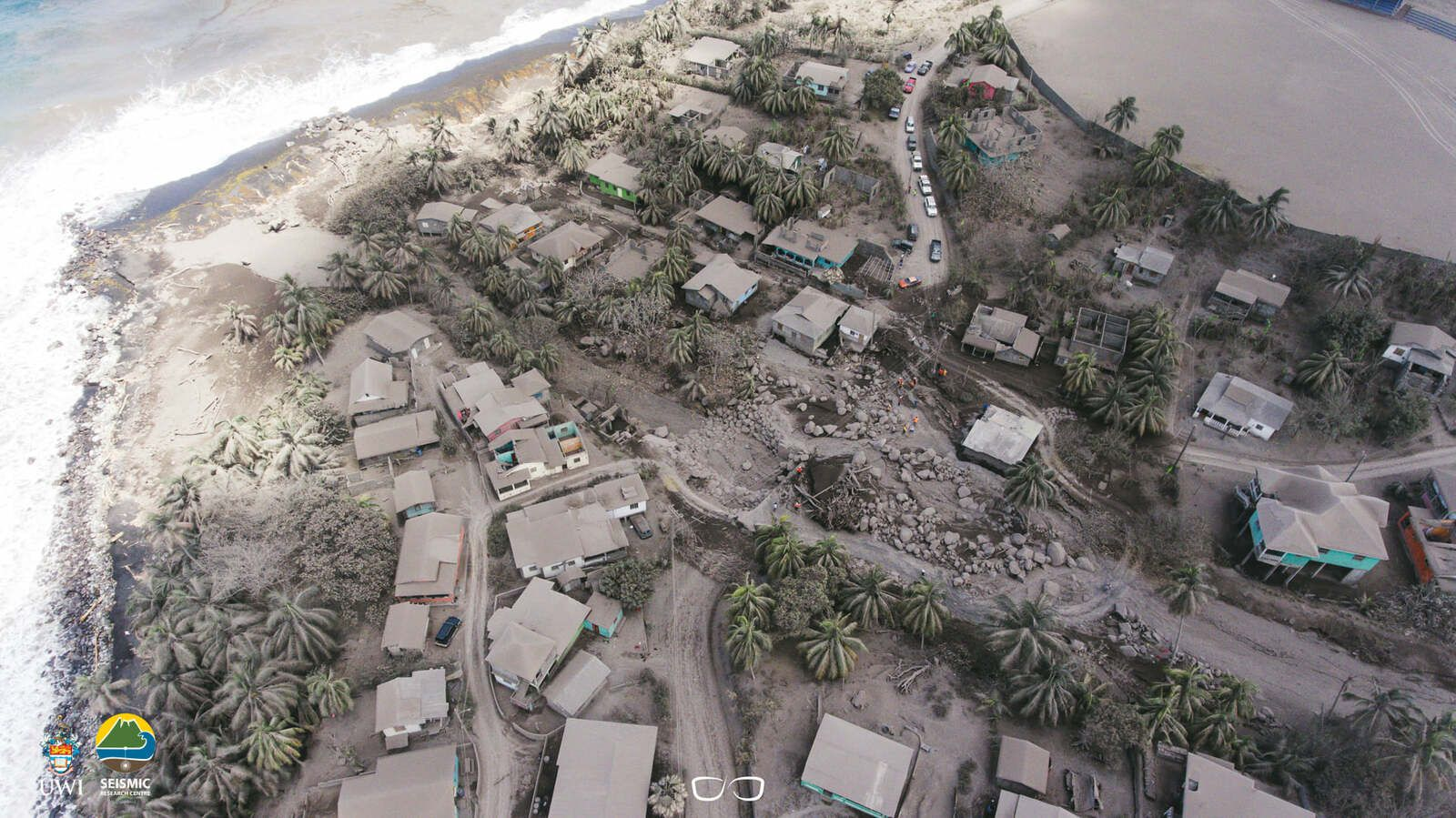 St. Vincent - an island under the ashes of the Soufrière volcano - photo UWI-SRC 26.04.2021