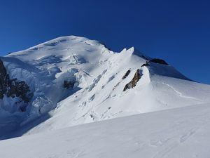 Entre le Grand Plateau et le col des Dômes - Mont Blanc depuis les Grands Mulets