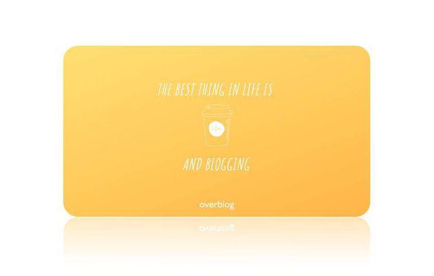 Un fonds d'écran coloré avec Overblog