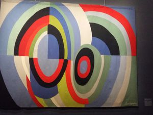 "Henri MATISSE ""La femme au luth"" 1947-1949 & Sonia DELAUNAY ""Rythmes couleurs"" 1974-1975"