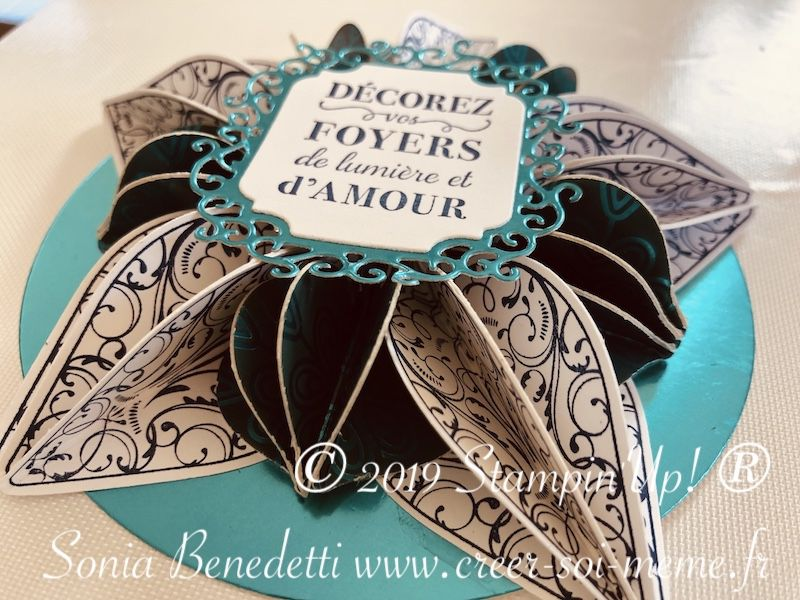 tutoriel gratuite étoile de noel a faire avec les perforatrices stampin up ornements étincelants offert par sonia bendetti demonstratrice en france