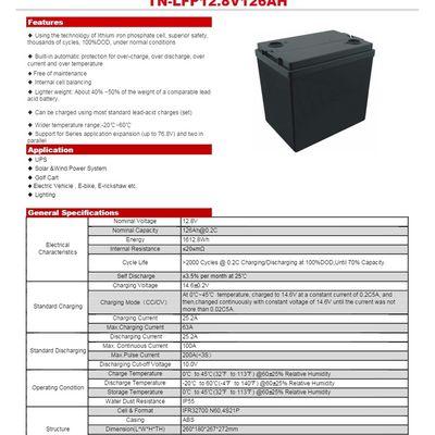 Nouvelle batterie lithium Life P04 - 12.8 V - 126 AH