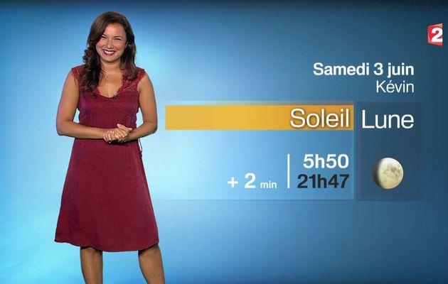 📸1 📺1 ANAIS BAYDEMIR ce midi pour LA METEO @France2tv #vuesalatele