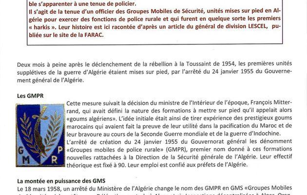 Bulletin du musée militaire du Périgord ( le briscard) les G.M.S. premiers harkis