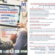 Les Maisons de services au public de CHÂLUS et NEXON vous ouvrent  leurs portes du 7 au 11 octobre 2019 :