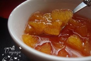 Confiture d'orange au sirop de grenadine