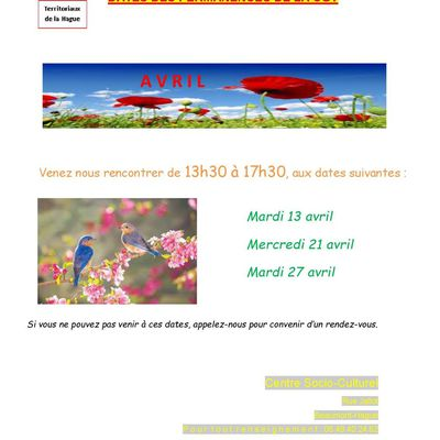 Dates de permanence avril