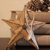 Tracy's Trinkets and Treasures: Origami Paper Star Ornament, Tag or Decor