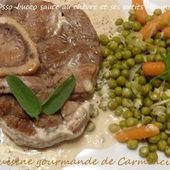 Osso-bucco sauce au chèvre - Cuisine gourmande de Carmencita