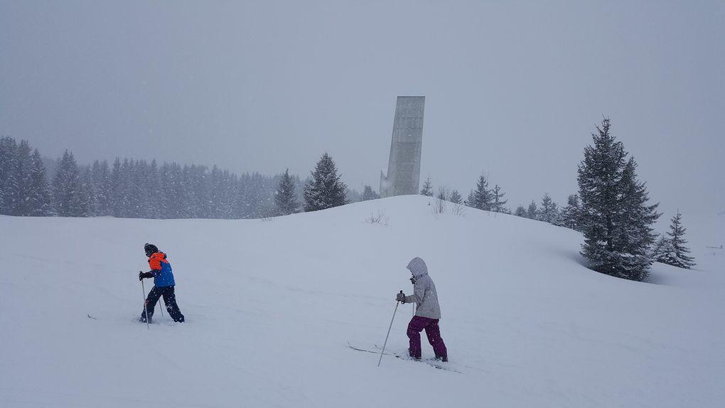 Ski au plateau des Glières