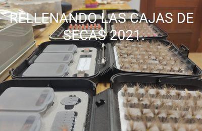 RELLENANDO LAS CAJAS DE SECAS 2021.
