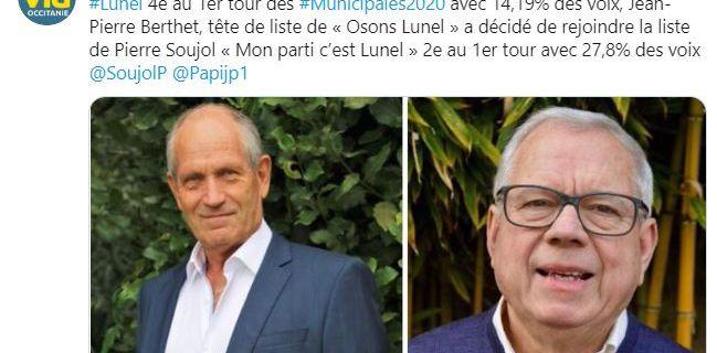 Lunel: Jean-Pierre Berthet rejoint la liste de Pierre Soujol