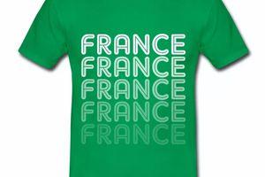 T shirt France Logo en dégradé HVR