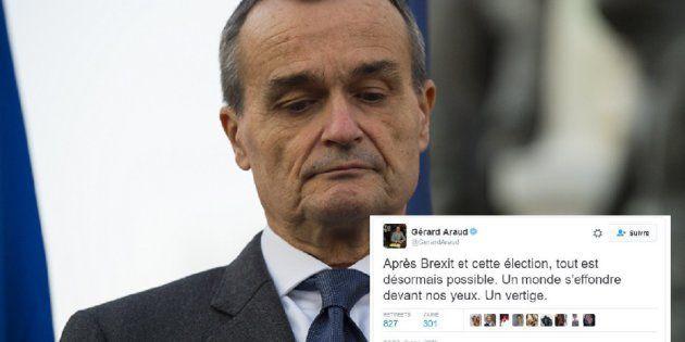Désemparé par le résultat de l'élection américaine, Gérard Araud, l'ambassadeur français aux Etats-Unis se fait incendier sur Twitter