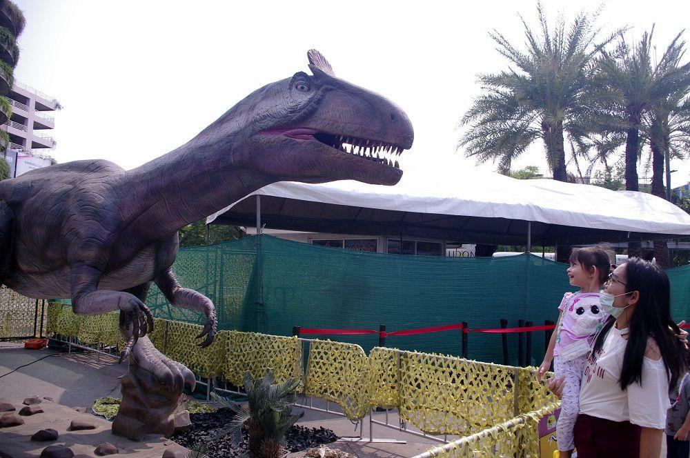 14 mars 2021: Udonthani, Mélanie chez les dinosaures.