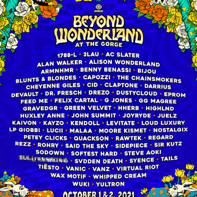 Tiësto date | Beyond Wonderland | Gorge, WA - october 01/02, 2021