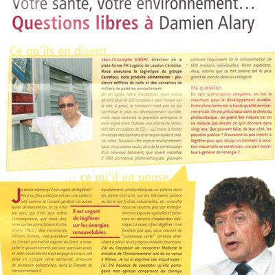 Questions libres à Damien Alary