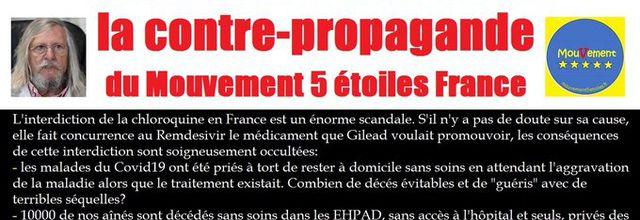 Chloroquine, la contre-propagande du Mouvement 5 étoiles France