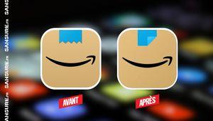 L'icône de l'application Amazon modifiée après une polémique ! #Amazon