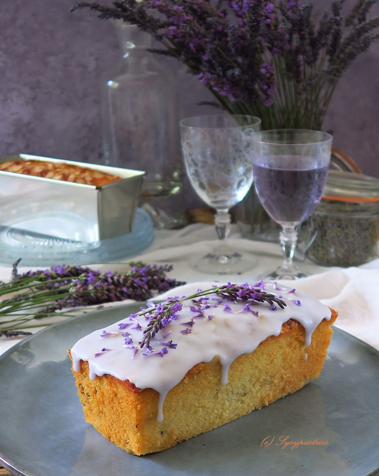 Cake moelleux citron amandes lavande