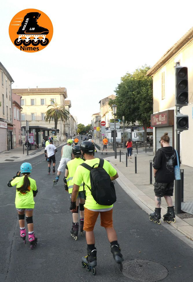 Roller, lib, nimes, cours, patin, roulettes, stage, sport, plein air