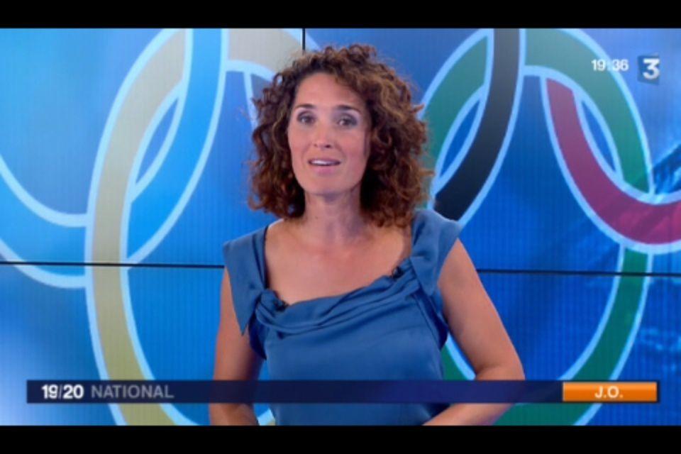 [2012 08 08] MARIE-SOPHIE LACCARAU - FRANCE 3 - LE 19-20 @19H30