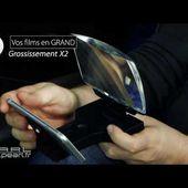 ECRAN GROSSISSANT 2X POUR SMARTPHONE - loupe - [PEARLTV.FR]