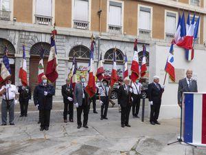 Cérémonies commémoratives du 76ème anniversaire de la Libération de Grenoble, 22 aout 2020
