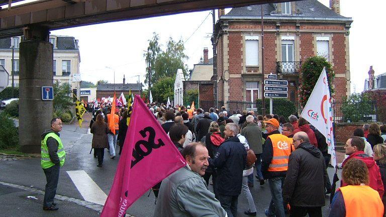 Manifestation contre la réforme des retraites le samedi 2 octobre 2010.